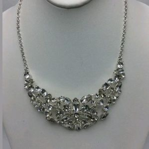 $58.50 Charter Club Silver Tone Crystal Statement